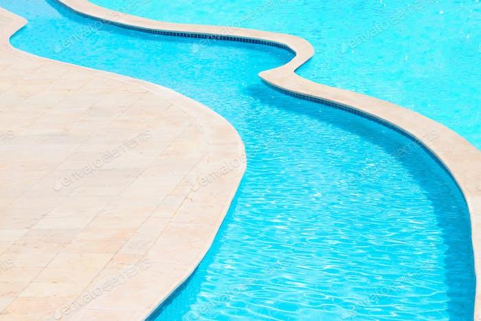 swimming pool close up
