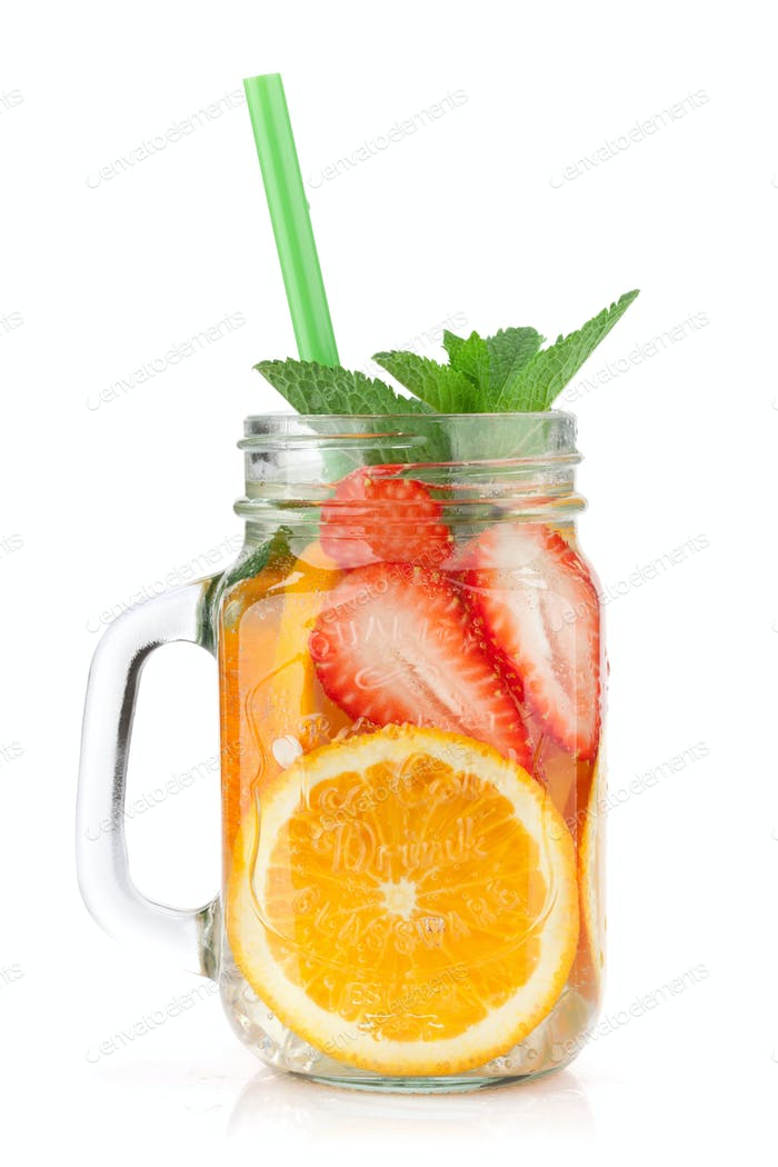 Fresh lemonade jar