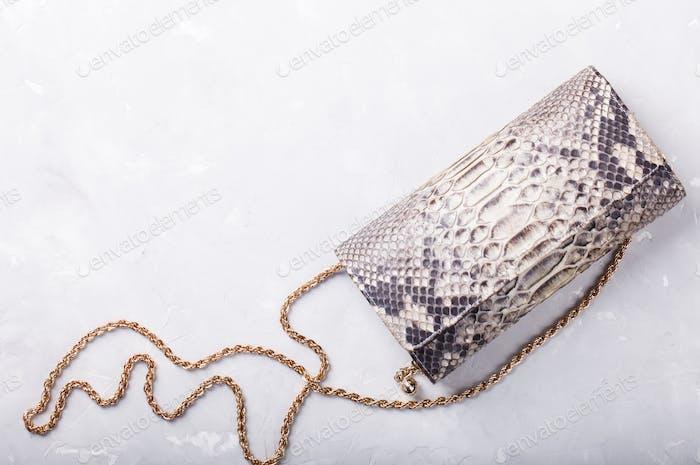Frauentasche clutch tasche aus leder reptilien