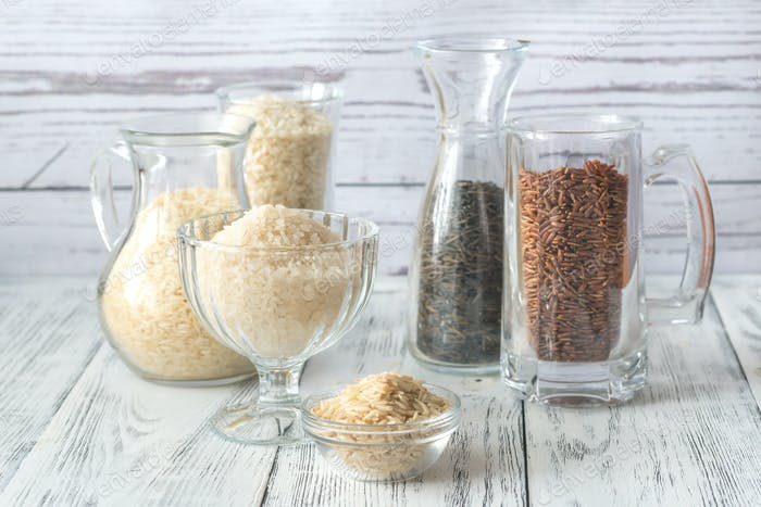 Different kinds of rice
