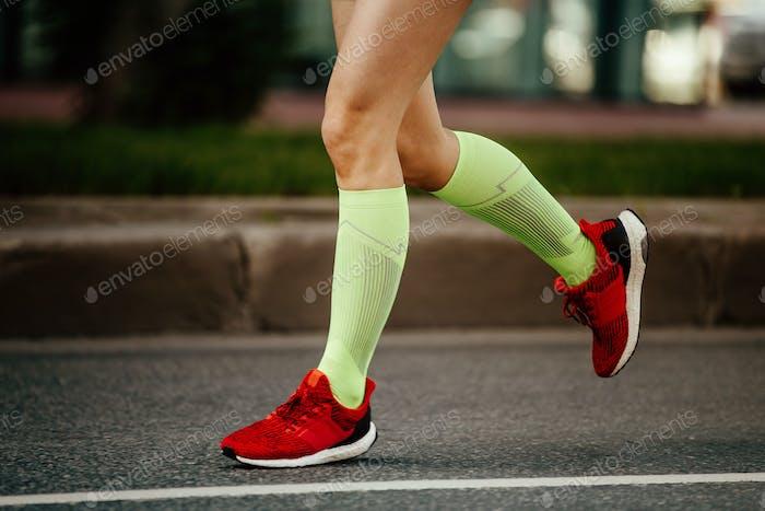Damen Füße Läufer