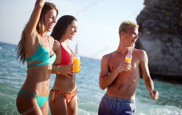 Friendship freedom beach fun summer vacation concept