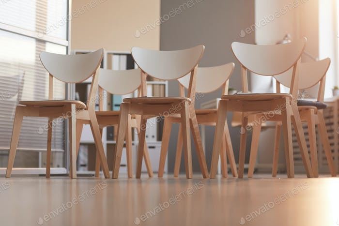 Chairs at board room