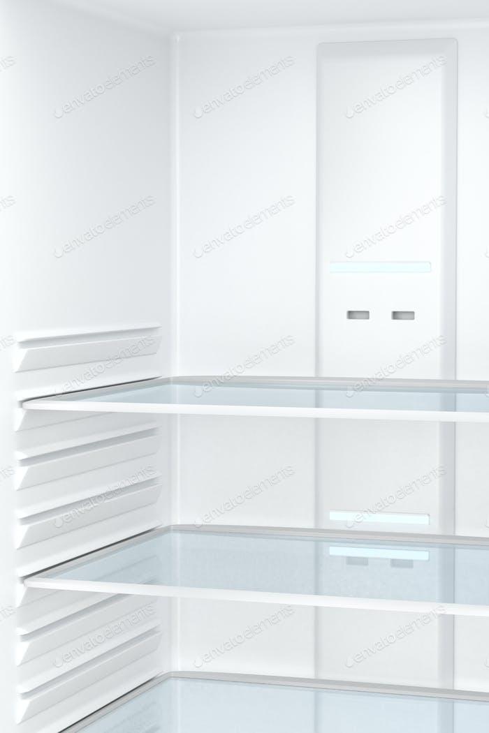 Empty refrigerator