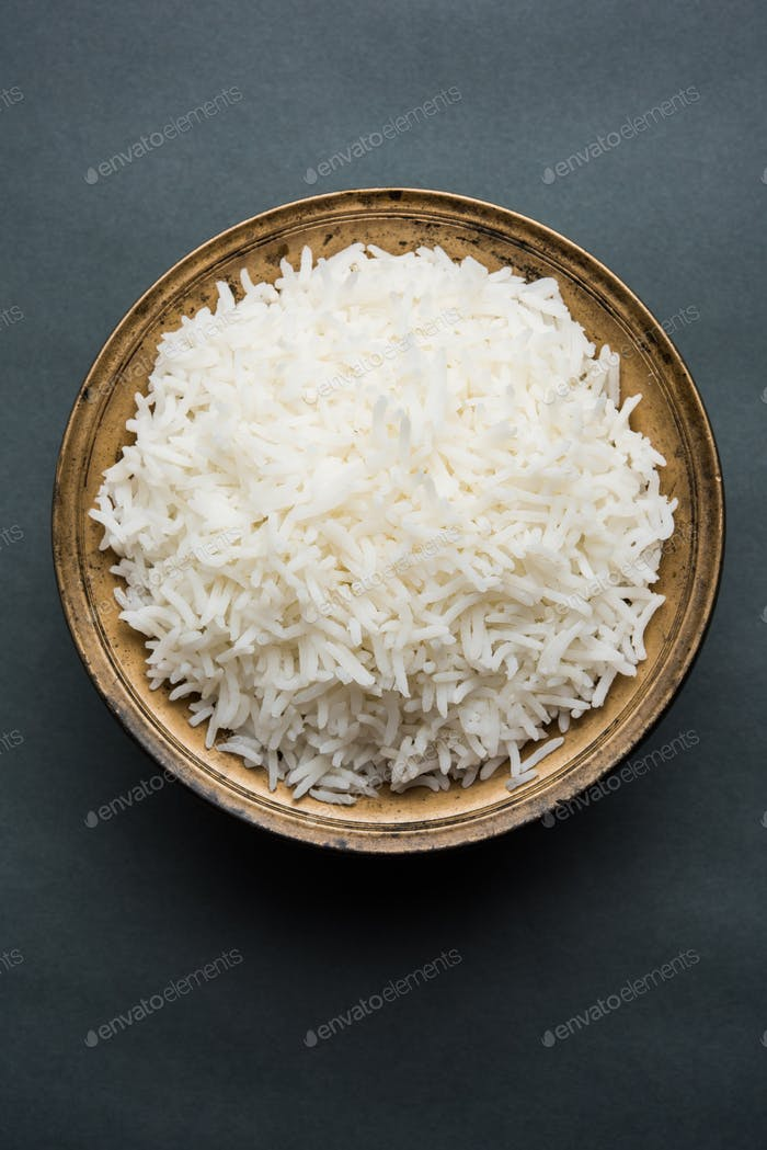 Cooked Plain Rice