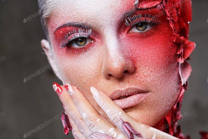 Schönes, künstlerisches Make-up