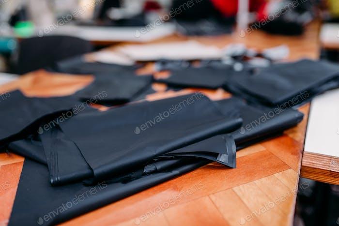 Material zum Schneiden der Kleidung, Stoffmuster