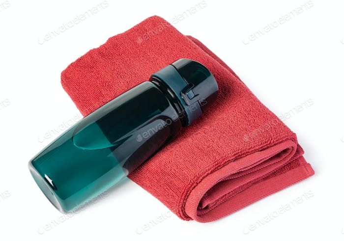 Sports Bottle and Bath towel