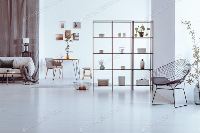 Designer chair in living room