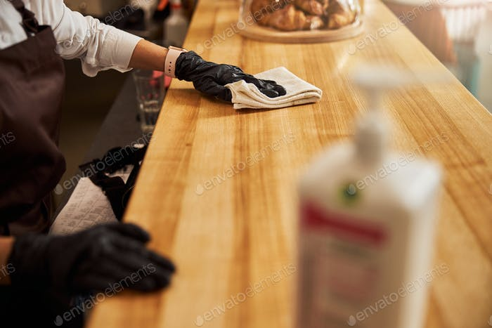 Picture of workspace of barista in coffee house