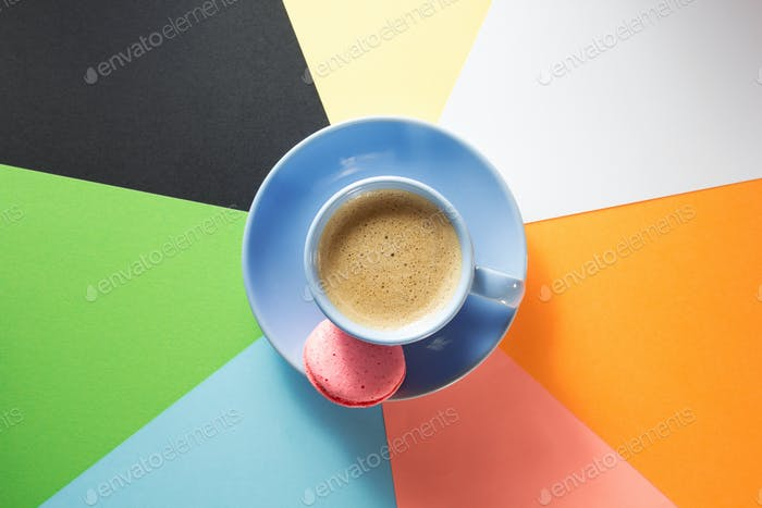 cup of coffee at paper background
