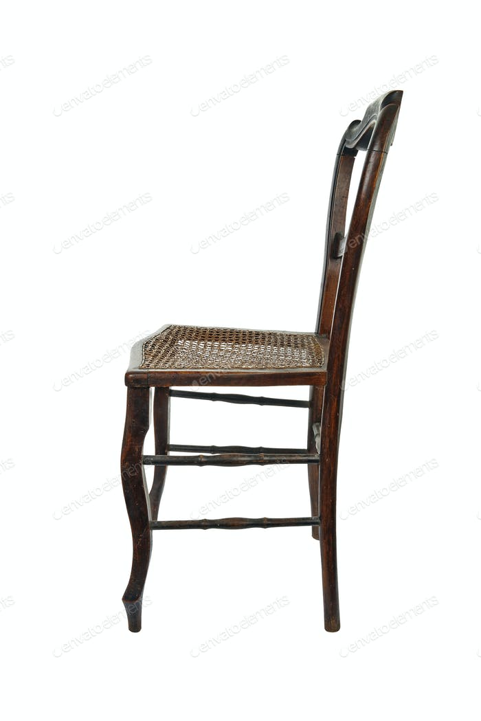 Antique wooden chair - side view