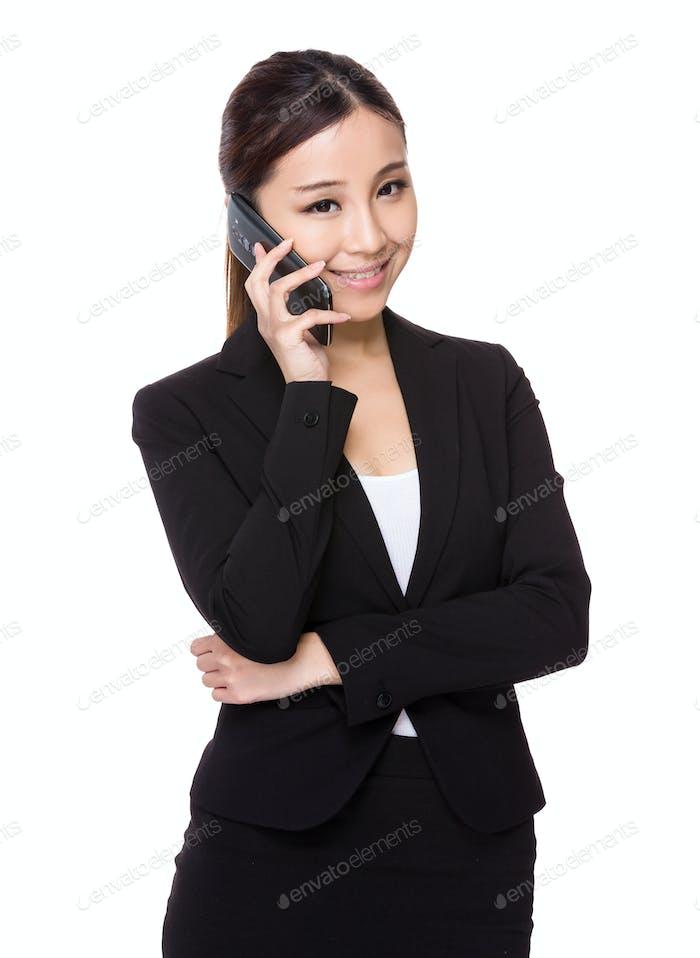 Asian businesswoman talk to cellphone