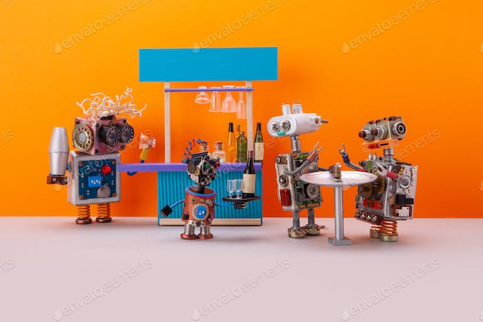 Robotic party, Robot Bar concept.