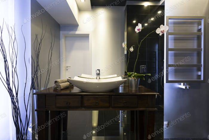 Elegant shining bathroom