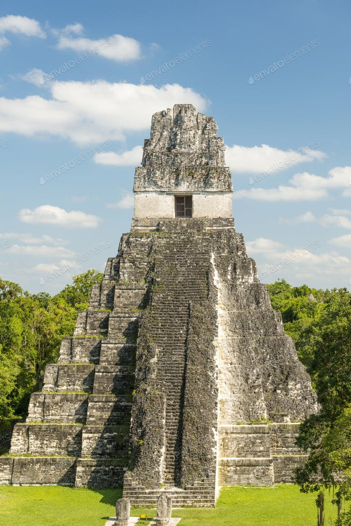 Tikal Jaguar Temple Guatemala