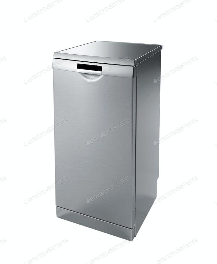 Mini fridge isolated on white
