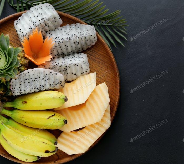 Tropical Fruits, Pineapple, Banana