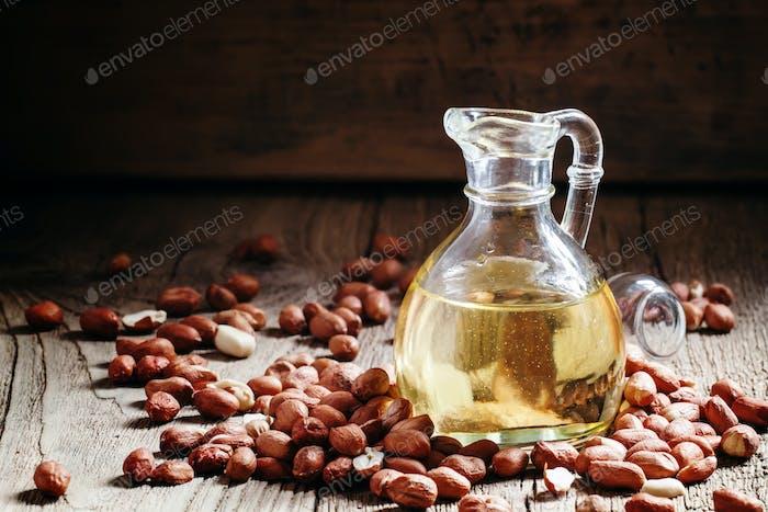 Erdnussbutter in einem Glas