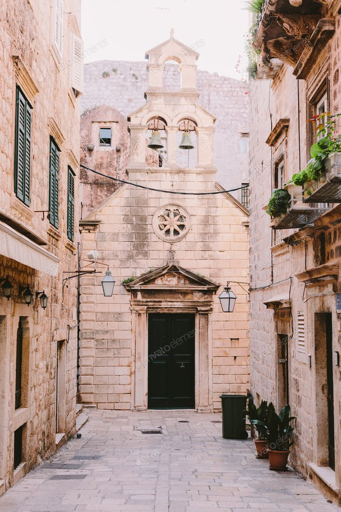 Old church  in Dubrovnik old town