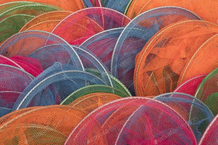 Redes de peces coloridas