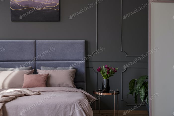 Thumbnail for Sophisticated pastel bedroom interior
