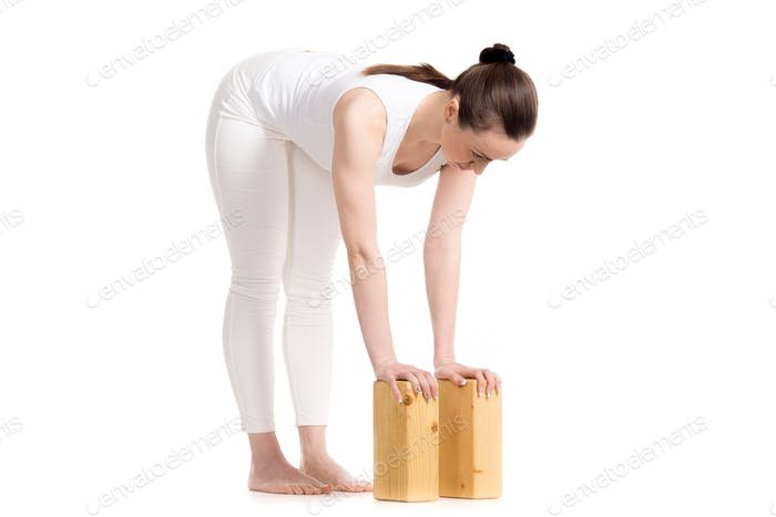 Yoga Standing Half Forward Bend pose