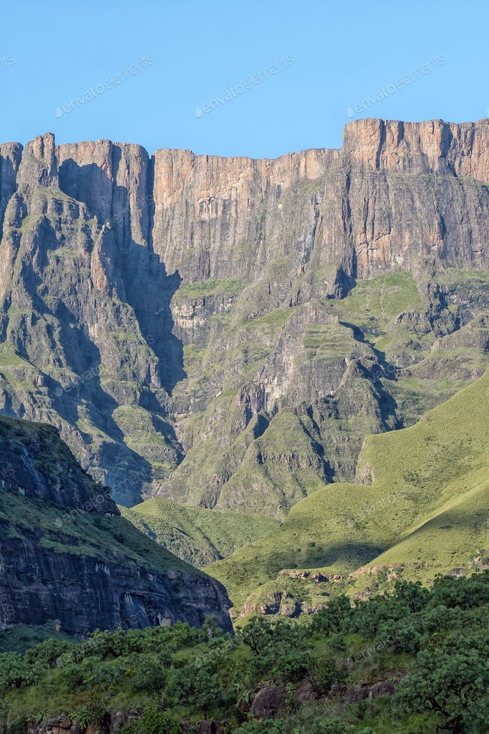 Second tallest waterfall on earth, the Tugela Falls