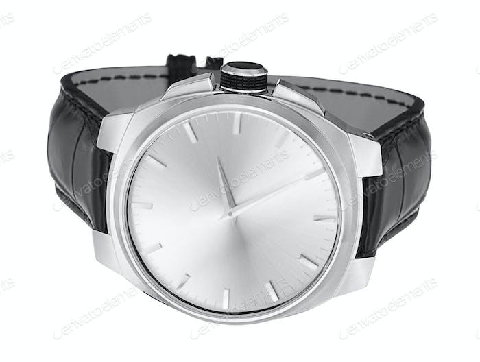 moderne Uhr isoliert auf weißem Hintergrund