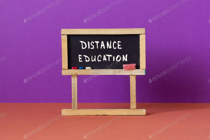Distance education or homeschooling concept