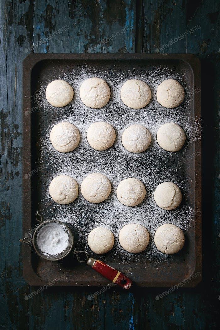 Homemade almond cookies