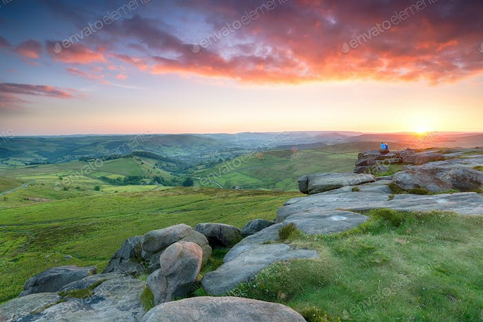Stunning Sunset From Higger Tor