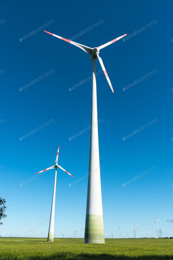 Windmill-powered plant seen in Germany