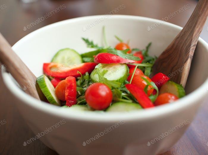Nahaufnahme eines Gartensalats