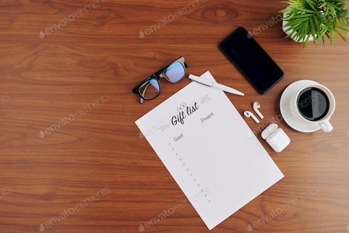 Geschenkliste für den Urlaub