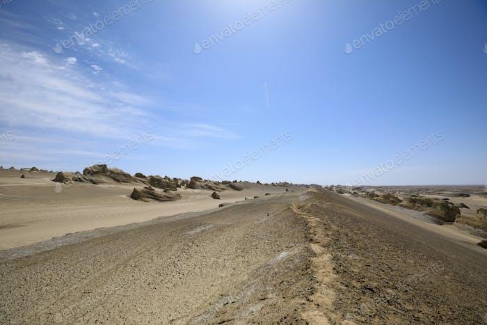 Landformlandschaft von Yardang im Westen von China