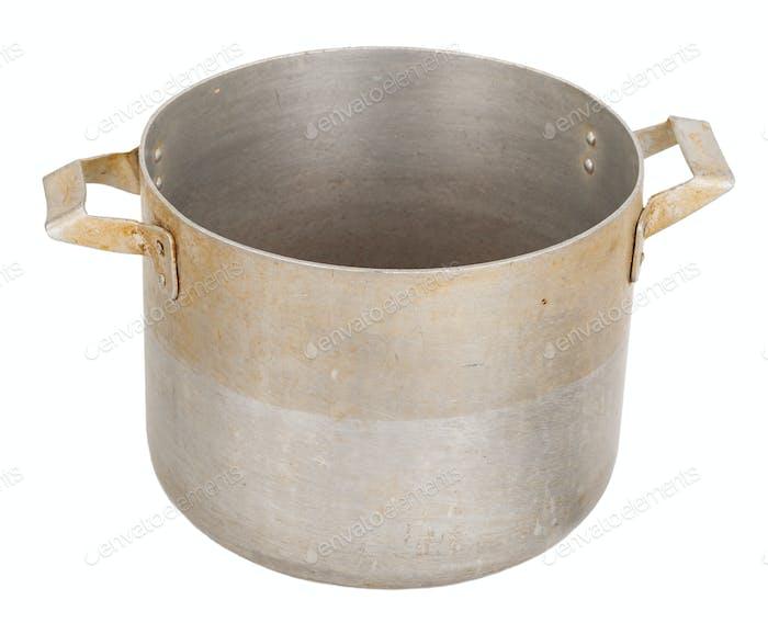 Old aluminum pan