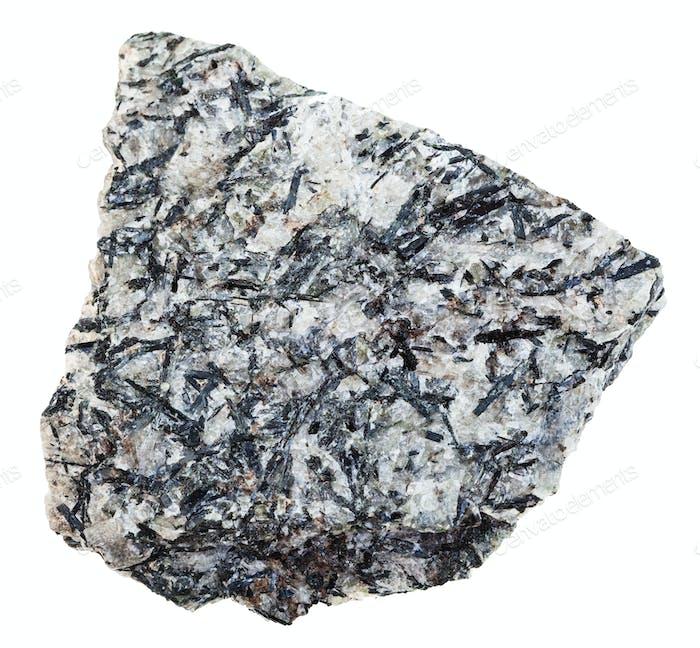 specimen of lujaurite rock isolated