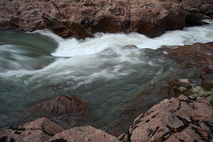 River among granite stones