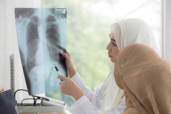 Muslim doctor woman