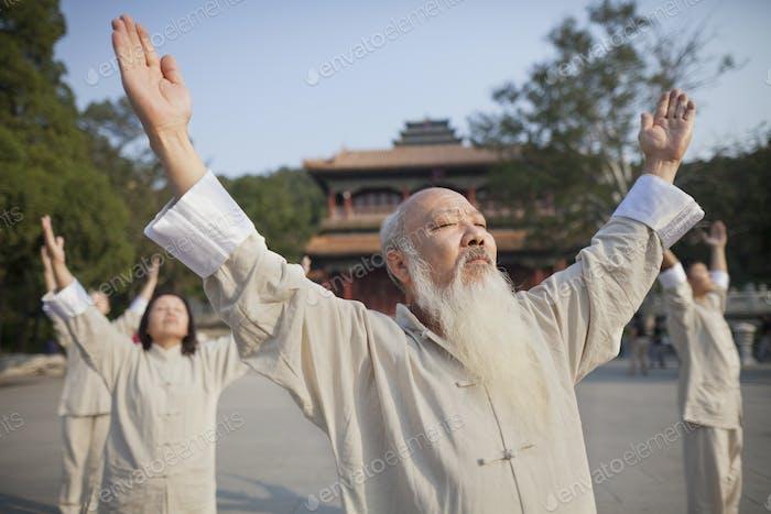 Chinesisch Üben Tai Ji