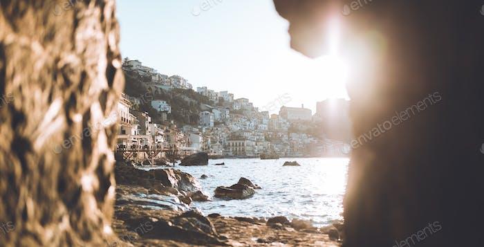 Beautiful view of Chianalea City. Scilla Calabria.