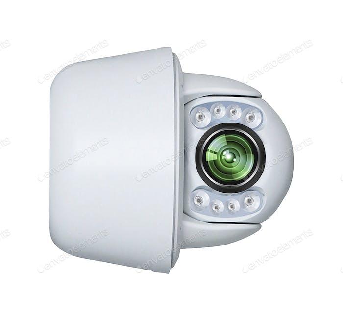Moderne Überwachungskamera isoliert