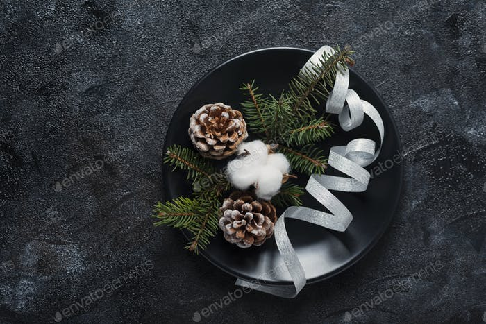 Concept of Christmas table decoration