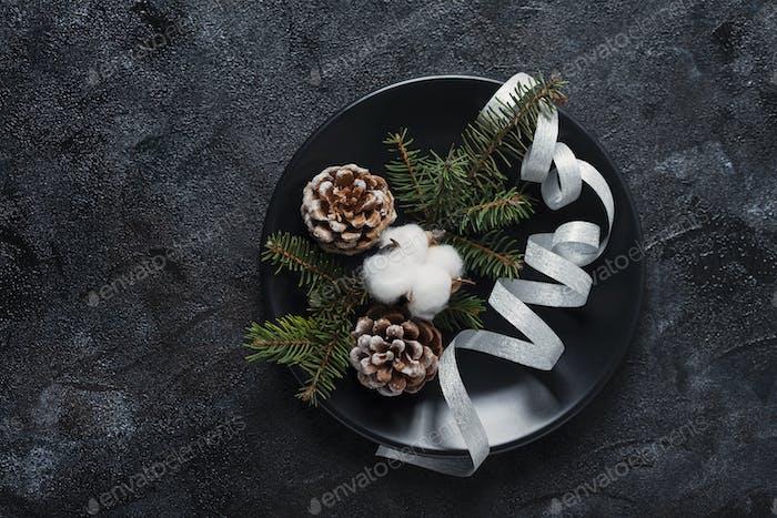 Концепция украшения рождественского стола