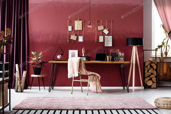 Cherry home office interior