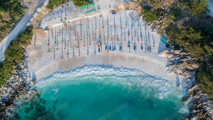 Marble beach (Saliara beach), Thassos Islands, Greece