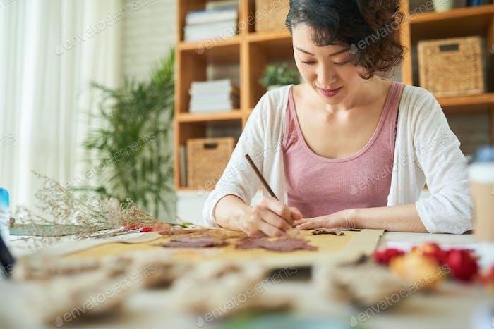 Japanisch Frau Ausdruck Phantasie