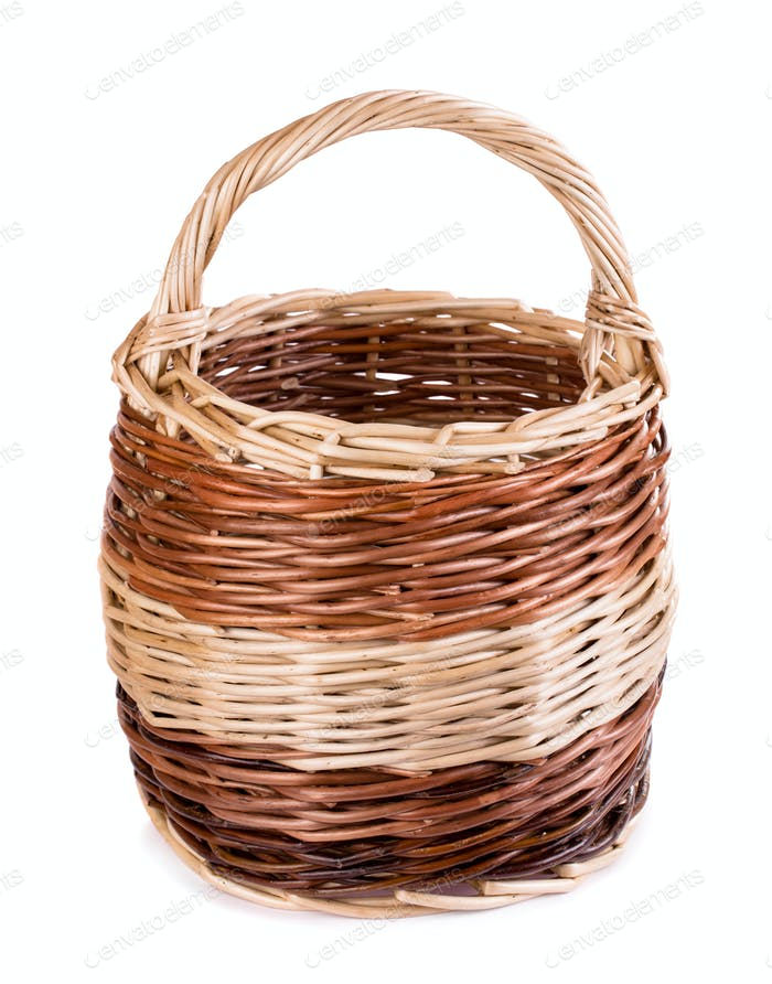 Handmade big basket isolated