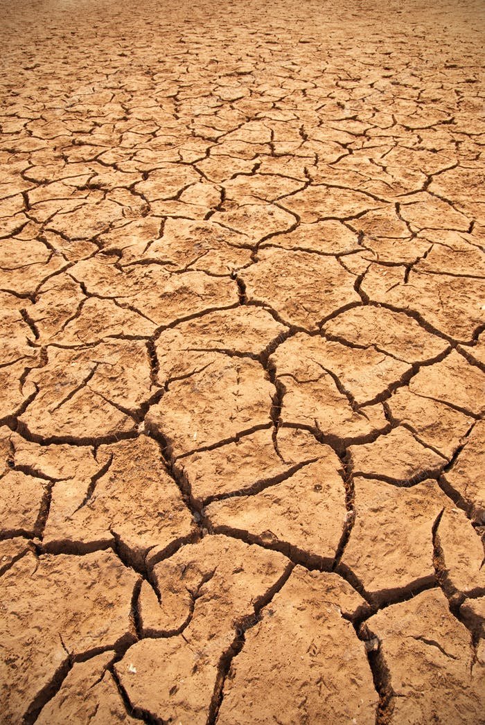 top view cracked dry ground abstract background